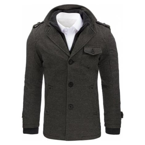 Šedý kabát s kapsičkou cx0404 BASIC