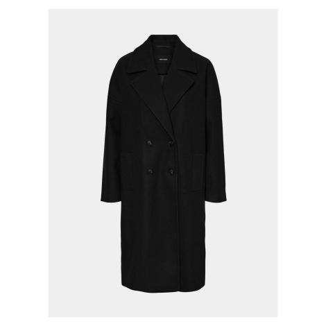 Černý dlouhý kabát VERO MODA Lola