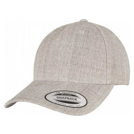 YP CLASSICS 5-PANEL PREMIUM CURVED VISOR SNAPBACK CAP - heather grey Urban Classics