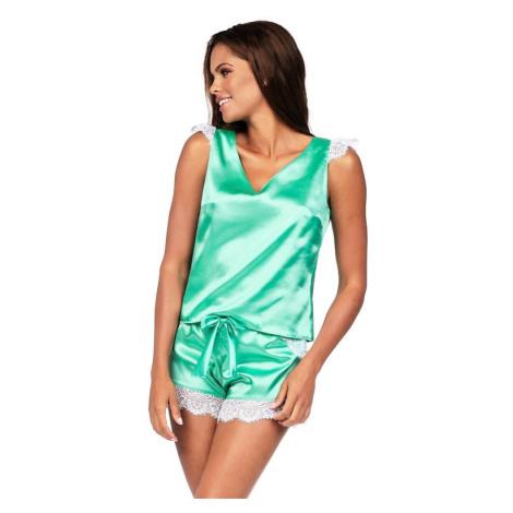 Luxusní saténové pyžamo Alla mint Excellent Beauty