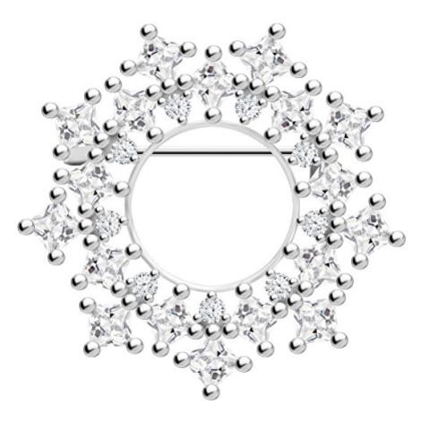 Preciosa Originální stříbrná brož Orion 00