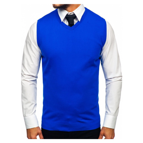 Modrý pánský svetr bez rukávů Bolf 2500 RWX