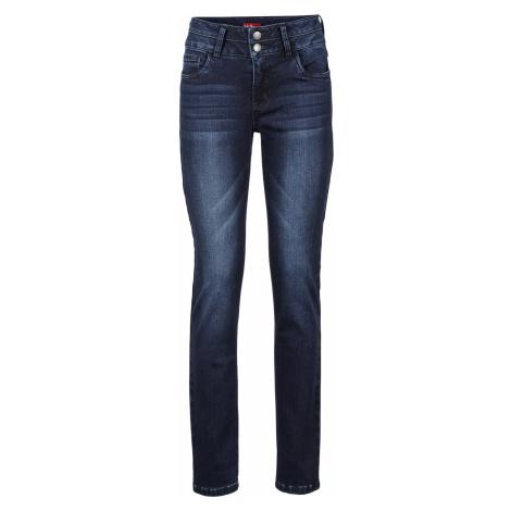 Strečové džíny se stahovacím efektem Slim Bonprix