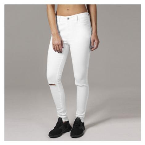 Urban Classics Ladies Cut Knee Pants white