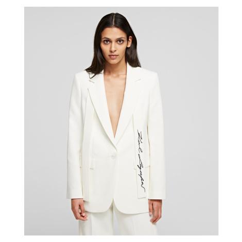 Blejzr Karl Lagerfeld Tailored Blazer - Bílá
