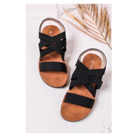 Černé nízké sandály Dalary Belle Women