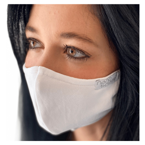 NANO rouška FIX AG-TIVE 10F 99,9% (2-vrstvá s kapsou, fixací nosu a 10 filtry) Bílá