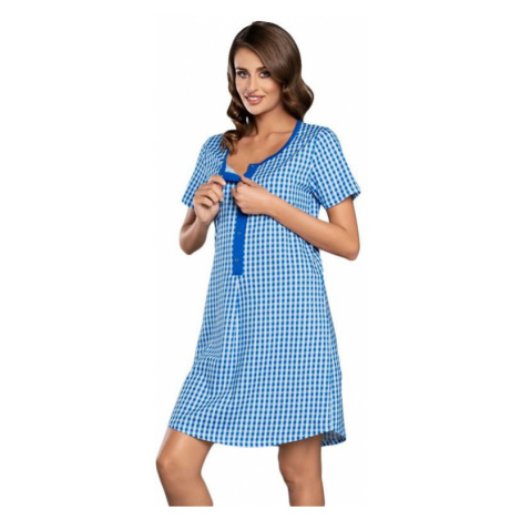 Kojicí a těhotenská košilka Michalina modrá Italian Fashion