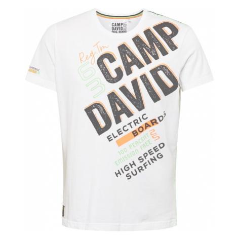 CAMP DAVID Tričko bílá