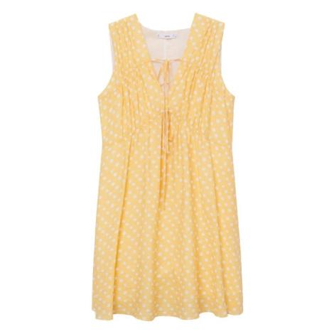 MANGO Letní šaty žlutá