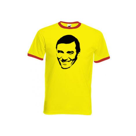 Pánské tričko s kontrastními lemy Karel Gott
