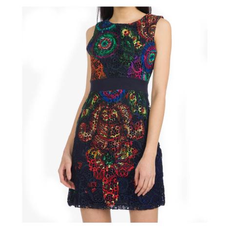 Šaty s barevnou krajkou Desigual