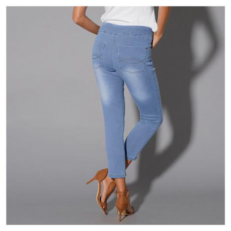 Blancheporte 3/4 džínové kalhoty sepraná modrá