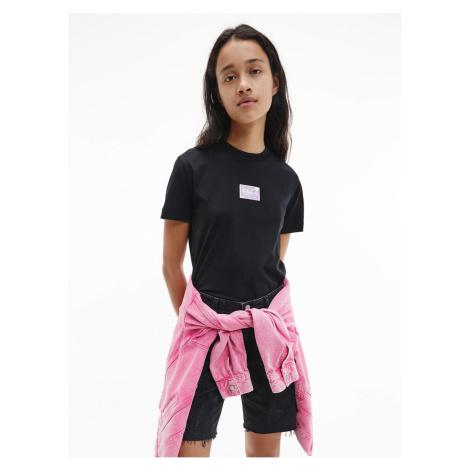 Calvin Klein Calvin Klein Jeans dámské černé tričko SHINE BADGE TEE