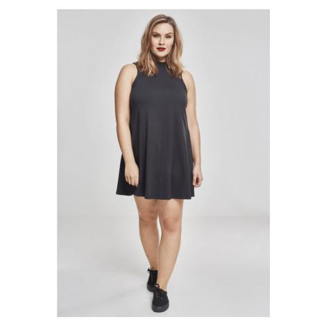 Ladies A-Line Turtleneck Dress - black Urban Classics