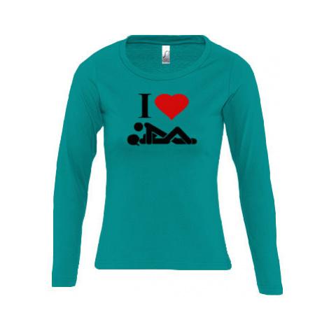 Dámské tričko dlouhý rukáv kulatý výstřih I Love Sex
