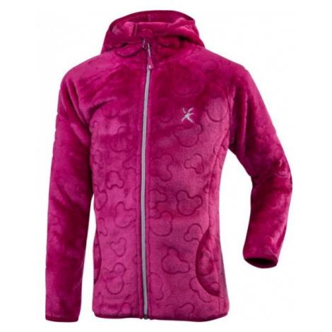 Klimatex BATTY růžová - Dívčí plyšová mikina