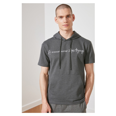 Trendyol Anthracite Men's Regular Fit T-Shirt