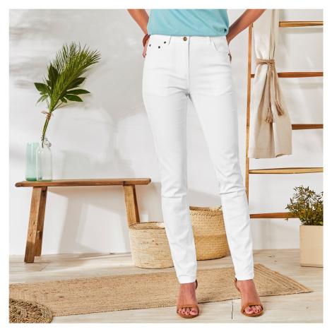 Blancheporte Slim džíny bílá