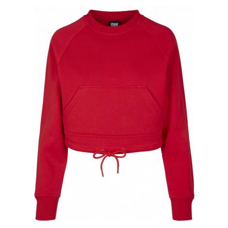 Ladies Oversized Short Raglan Crew - fire red Urban Classics