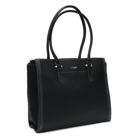 Černá velká dámská kabelka do ruky Carine David Jones