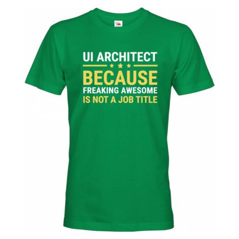Pánské tričko pro UI architekty - dokonalý dárek pro IT specialisty BezvaTriko