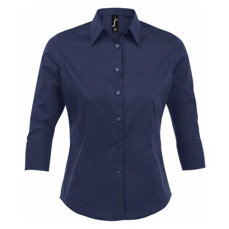 SOĽS Dámská košile EFFECT 17010228 Dark blue SOL'S