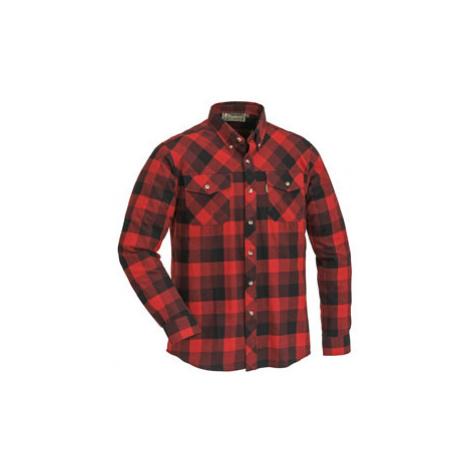 Košile dřevorubecká PINEWOOD Lumbo flannel kostkovaná - ČERVENO / ČERNÁ