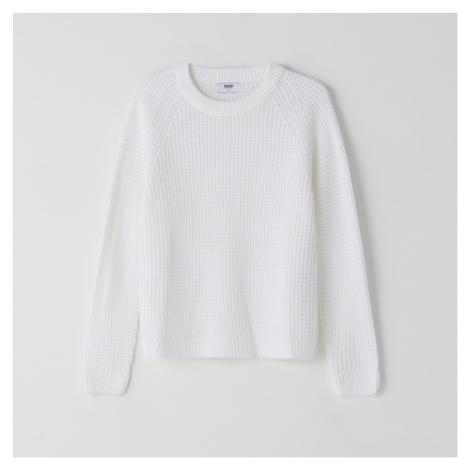 Cropp - Svetr z pleteného žerzeje - Bílá
