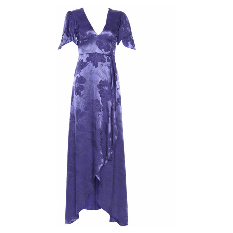 Trendyol Purple Sleeve Detailed Satin Evening Dress & Graduation Gown