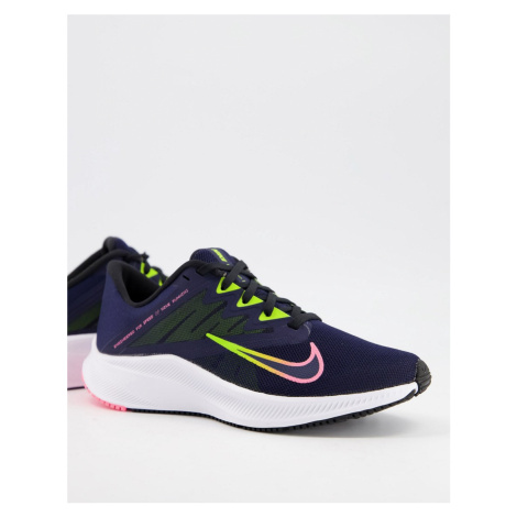 Nike Running Quest 3 trainers in blue