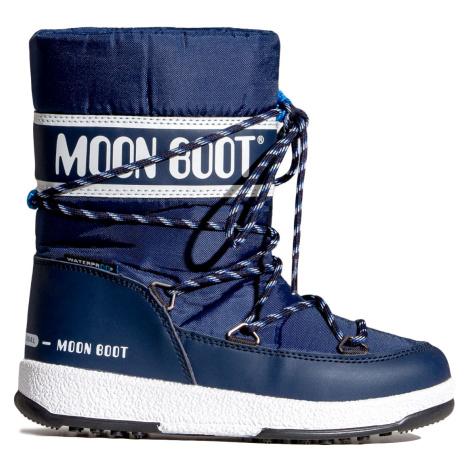 Boty Moon Boot JR BOY SPORT WP tmavomodrá