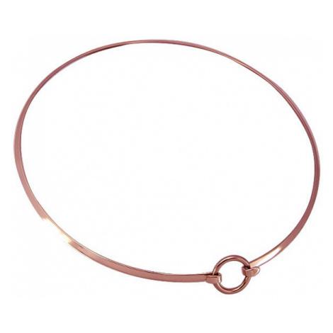 Troli Módní bronzový náhrdelník Choker NLM122RG