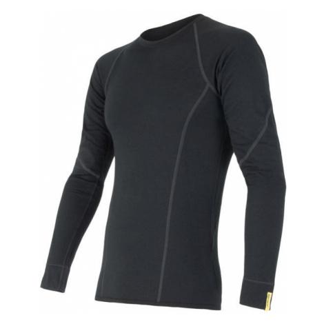 Pánské tričko SENSOR Merino Active dl. rukáv černá