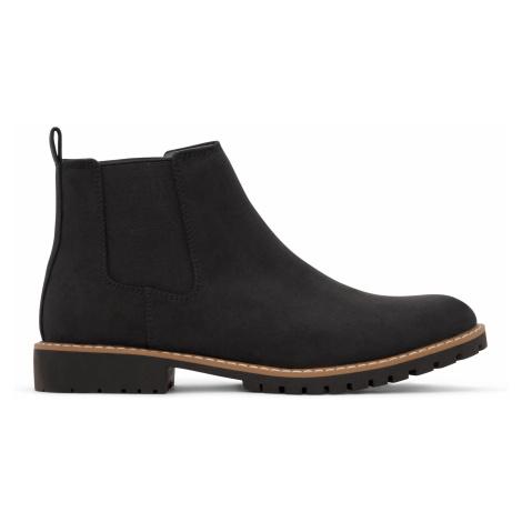 Černé pánské kotníkové boty Matt & Nat Hail