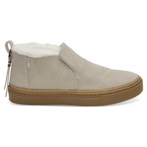 Birch Suede/Faux Fur WR Women's Paxton Toms