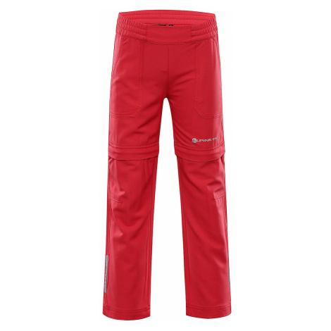 Dětské softshellové kalhoty Alpine Pro PANTALEO 4 - červená