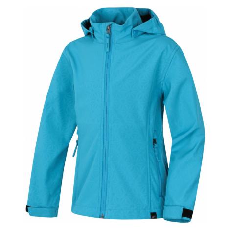 HANNAH Kasha Lite JR Dětská softshellová bunda 118HH0117SJ01 Peacock blue