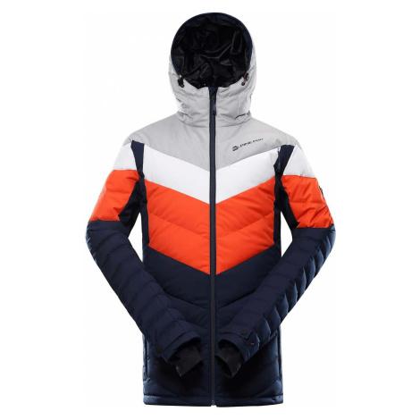 Alpine Pro Neith 3 pánská bunda oranžovo modrá