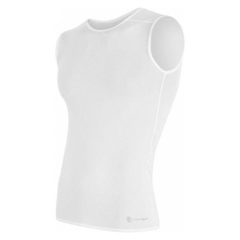 Sensor Coolmax Air pánské triko bez rukávů - bílá white