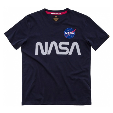 Alpha Industries Tričko NASA Reflective T rep. modrá