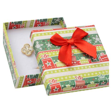 JKBOX Vánoční krabička s mašlí na střední sadu šperků | IK020