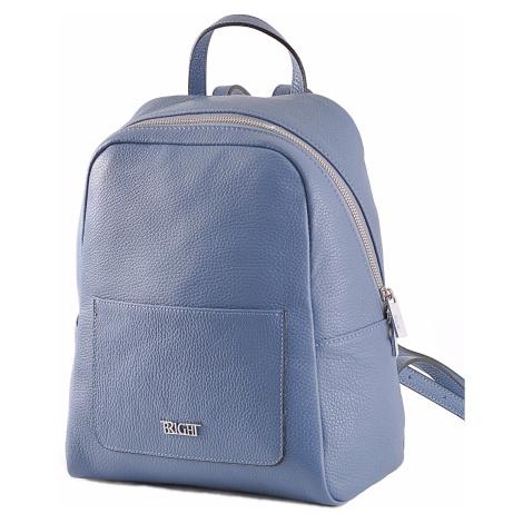 BRIGHT Dámský kožený batoh s kapsou Modrošedý, 26 x 13 x 31 (BR19-ANP8010-71DOL)