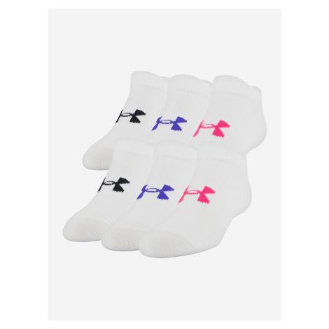 Ponožky Under Armour Girl\'S Essential Ns Bílá