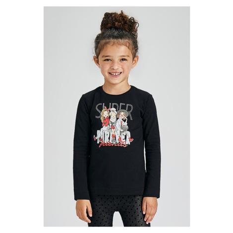 Dívčí tričko s dlouhým rukávem Mayoral Super černá