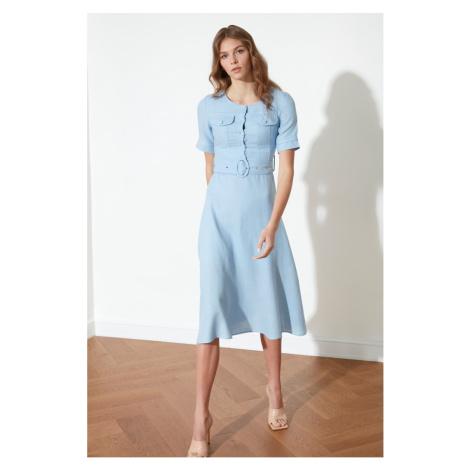 Trendyol Blue Belt Dress