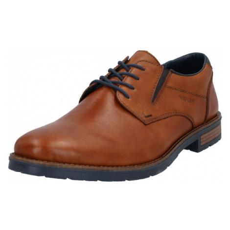 RIEKER Šněrovací boty karamelová