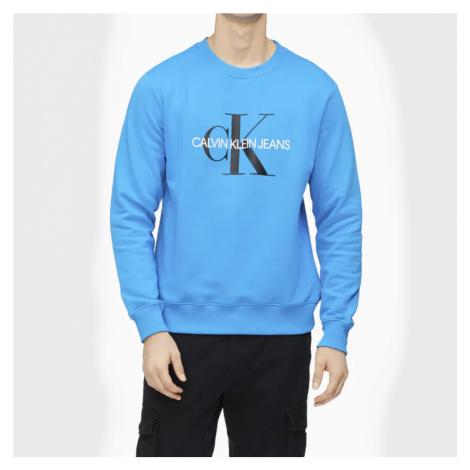 Calvin Klein pánská modrá mikina Monogram