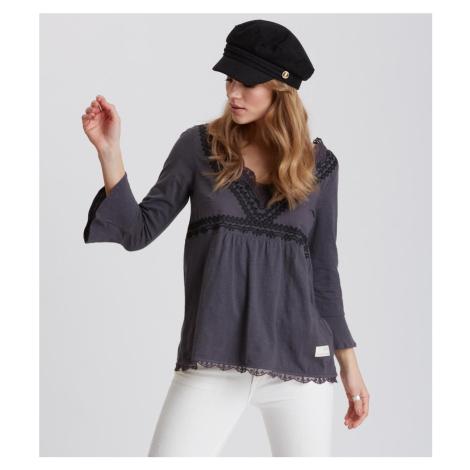 Košile Odd Molly Lace Vibration Blouse - Černá