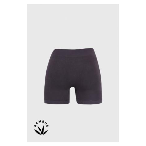 Šedé bambusové boxerky s delší nohavičkou GINO